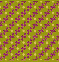 flower polka dot geometric seamless pattern 1801 vector image vector image