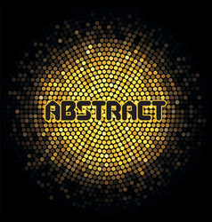futuristic abstract background with yellow mosaic vector image