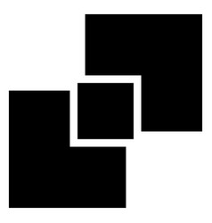 Generic symbol with overlapping squares vector