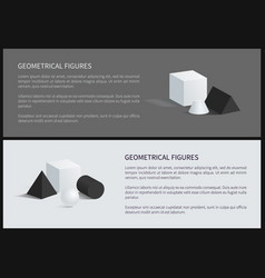 Geometrical figures poster vector