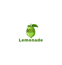 green lemonade juice logo designs inspiration vector image
