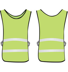 green reflective vest vector image