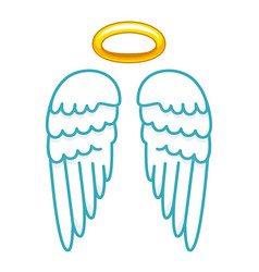 halo with wings icon saint or holy person vector image
