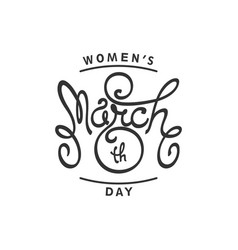happy international womens day vector image