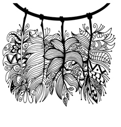 High quality original set of feathers with vector