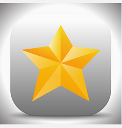 Icon with yellow and orange faceted star vector
