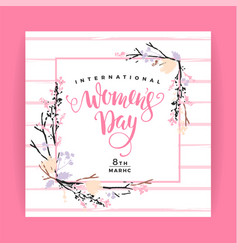International women s day template vector