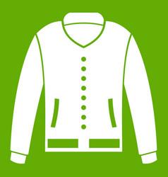 Jacket icon green vector