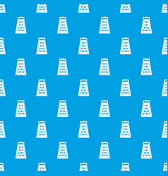 kitchen grater pattern seamless blue vector image