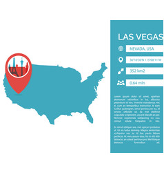las vegas map infographic vector image