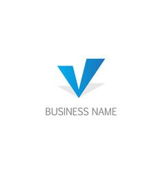 letter v initial business logo vector image