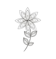 Lilac flower decoration line vector