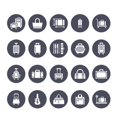 luggage flat glyph icons carry-on hardside vector image
