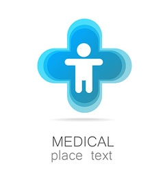 Medical cross template logo vector