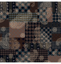 Patchwork with the paisley pattern vector