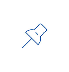 pin line icon concept pin flat symbol vector image