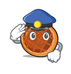 police baket pie character cartoon vector image