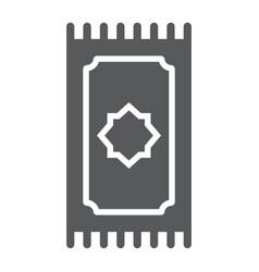 Prayer rug glyph icon ramadan and islam prayer vector