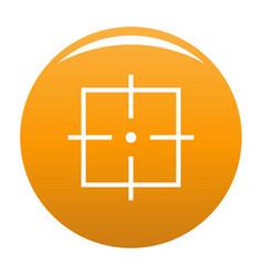 Purpose icon orange vector