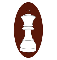 queen chess on white background vector image