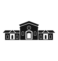 Railway station building icon simple style vector