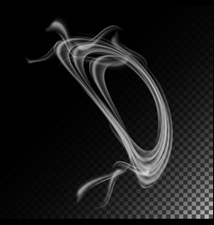 Realistic cigarette smoke waves abstract vector