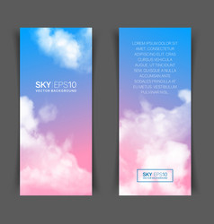 Realistic pink-blue sky vector