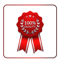 Ribbon award icon red 3 vector image