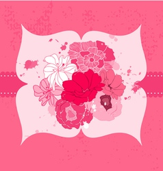 romantic flower card vector image