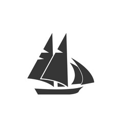 sailboat graphic design template isolated vector image