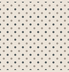 seamless pattern with polka dots in two colors vector image