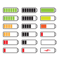 set batteries vector image