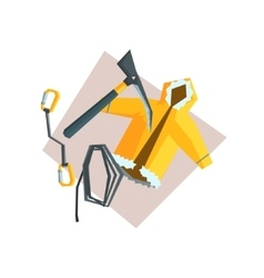 Set Of Items For Mountaineering vector image