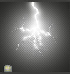Set of lightnings thunder-storm and lightnings vector