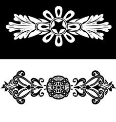 Set Of Two Vintage Ornate Frames vector image vector image