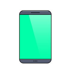 smartphone with blank screen thin line icon vector image