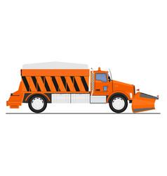 Snow plow vector