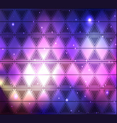 space background with a boho pattern of triangles vector image