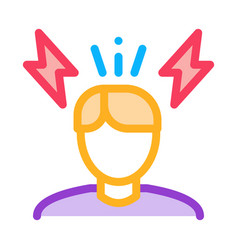 Stressed man icon outline vector