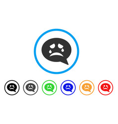 Tiers smiley message icon vector