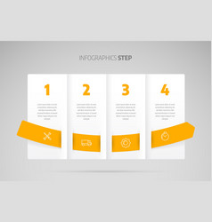 timeline infographic design or process chart vector image