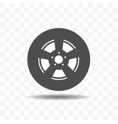black silhouette tire icon vector image