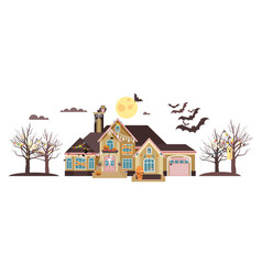 isolated cartoon house vector image vector image