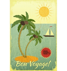 Retro vintage grunge travel postcard vector