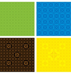 set of seamless pattern ornament vector image vector image