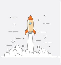 successful startup business concept vector image