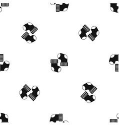 baby socks pattern seamless black vector image vector image