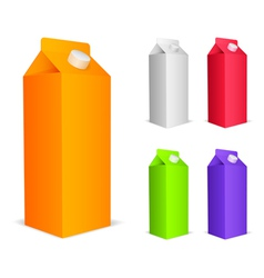 Color juice packs vector image vector image