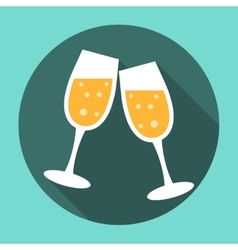 Glasses of Champagne Icon vector image vector image