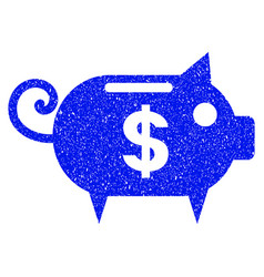 piggy bank grunge icon vector image